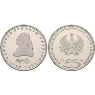 5 DM Gotthold Ephraim Lessing 1981 Bankfrisch - [ 7] 1949-… : FRG - Fed. Rep. Germany