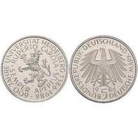 5 DM Ruprecht-Karls-Universität Heidelberg 1986 Bankfrisch - [ 7] 1949-… : FRG - Fed. Rep. Germany