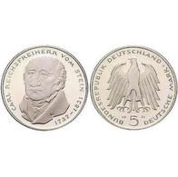 5 DM Carl Reichsfreiherr Vom Stein 1981 Bankfrisch - [ 7] 1949-… : FRG - Fed. Rep. Germany