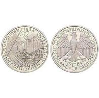 5 DM Gründung Des Deutschen Zollvereins 1984 Bankfrisch - [ 7] 1949-… : FRG - Fed. Rep. Germany