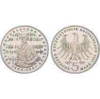 5 DM Felix Mendelssohn Bartholdy 1984 Bankfrisch - 5 Mark