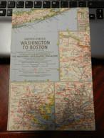 1) NATIONAL GEOGRAPHIC UNITED STATES WASHINGTON TO BOSTON 1962 - World