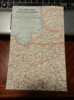 1) NATIONAL GEOGRAPHIC POLAND AND CZECHOSLOVAKIA POLONIA CECOSLOVACCHIA 1958 - Europe