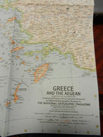 1) NATIONAL GEOGRAPHIC GRECIA EGEO GREECE AND THE AEGEAN 1958 - Europe