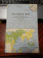 1) NATIONAL GEOGRAPHIC SOUTHWEST ASIA 1963 - World