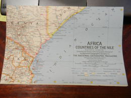 1) NATIONAL GEOGRAPHIC COUNTRIES OF THE NILE 1963 - Europe