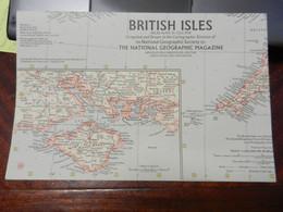 1) NATIONAL GEOGRAPHIC BRITISH ISLES 1958 - Europe