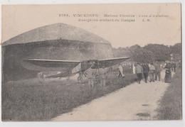 CPA Aviation Parc D'aviation De Maison Blanche Vincennes  (94) Aéroplane Blériot Sortant Du Hangar   Ed Malcuit 3788 - Aérodromes