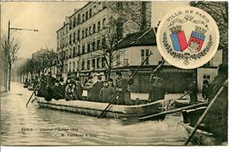 94200 Écusson Ville De PARIS - Crue 1910 - Le Président Armand FALLIÈRES à IVRY - Ivry Sur Seine