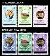 Caicos Islands 1981 Diana Wedding OVPT.LONDON+NY SPECIMEN SETS:2x3 (fr.sheetlets) - Turks & Caicos (I. Turques Et Caïques)