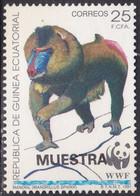 Specimen, Equatorial Guinea Sc159 WWF, World Wildlife Fund, Mandrill, Monkey, Singe - Unused Stamps