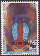 Specimen, Equatorial Guinea Sc160 WWF, World Wildlife Fund, Mandrill, Monkey, Singe - Unused Stamps