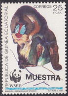Specimen, Equatorial Guinea Sc161 WWF, World Wildlife Fund, Mandrill, Monkey, Singe - Unused Stamps