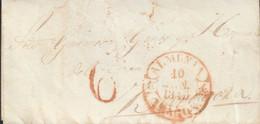 PREFILATELIA. 1845.-CARTA-LA ALMUNIA A ZARAGOZA- Baeza ALMUNIA / ARAGON - ...-1850 Prephilately