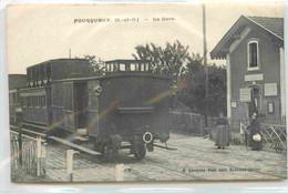 78 FOURQUEUX La Gare CPA Ed. Laverton  EN L'ETAT : DECOLLEE - Altri Comuni