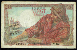 FRANCE - 20 FRANCS - 1945 - - Le Pêcheur - N°374529309. - 1871-1952 Antichi Franchi Circolanti Nel XX Secolo