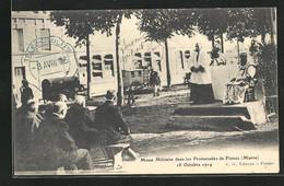 CPA Fismes, Messe Militaire Dans Les Promenades, 18.10.1914 - Fismes