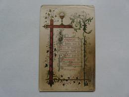 VIEUX PAPIERS - IMAGES RELIGIEUSES : Souvenir De Première Communion - Robert DUMAND - PITHIVIERS 1901 - Santini