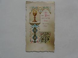 VIEUX PAPIERS - IMAGES RELIGIEUSES : Souvenir De Première Communion - Paul GIBIER - PITHIVIERS 1897 - Santini