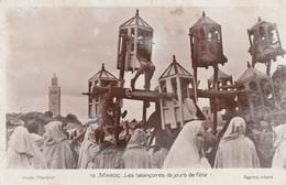 N°7114 R -cpa Maroc -les Balançoires De Jours De Fête- - Unclassified