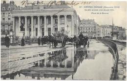 NANTES INONDE 1910 : PLACE DE LA BOURSE - Nantes