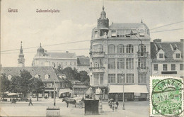 001413 - AUSTRIA - GRAZ - JAKOMINIPLATZ - 1912 - Graz