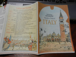 1) NATIONAL GEOGRAPHIC ITALY TRAVELLER MAP - Europe