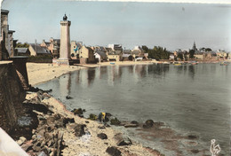 ROSCOFF - 2 CPSM : La Chapelle Ste Barbe - Le Phare Et Le Vieux Port - Roscoff