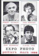 REF 524 CPM Expo Photo 1988 Robert Doisneau Yvon Kervinio Jean Bourgeois Claude Fagé - Photographs