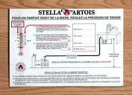 Plaque Publicitaire Métal Brasserie STELLA ARTOIS, Débit De La Bière Tirage - Insegne