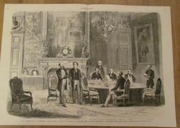 GRAVURE 1869 Paris Seance Le Salon Du Congres  Ministere Des Affaires Etrangeres     Differend TURQUIE GRECE - Non Classés