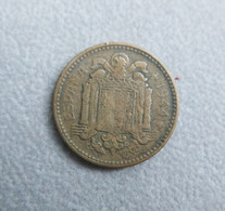 Monnaie D'Espagne—1 Peseta—Bronze—1944—Etat Moyen - [ 4] 1939-1947 : Gobierno Nacionalista