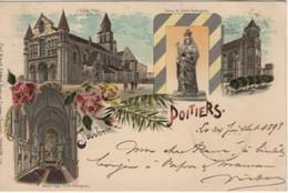 Vienne POITIERS Souvenir Gruss Voyagée 1898 Cachet Arrivée Edit Carl Künzli Suisse Multi Vues - Poitiers