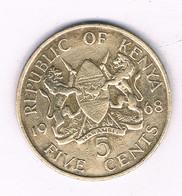 5 CENTS 1968 KENIA /8463/ - Kenya