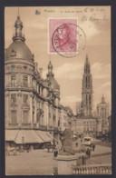 "Postkaart ANVRES ""Le Canal Au Sucre"" Gefrankeerd Albert I Helm 10c (OBP 168) - Gestempeld ANTWERPEN - 1919-1920 Trench Helmet"