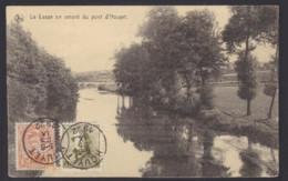 """Postkaart """"La Lesse En Amont Du Pont D'Houyet"""" Gefrankeerd 3c O.a. Albert I Helm 2c (OBP 166) - Gestempeld HOUYET - 1919-1920 Trench Helmet"""