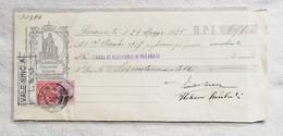 Cambiale Cassa Di Risparmio Di Recanati 28/05/1925 - Bills Of Exchange