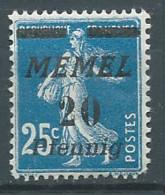 Memel YT N°50 Semeuse Fond Plein Surchargé Neuf/charnière * (Voir Description) - Nuovi
