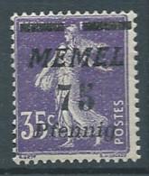 Memel YT N°55 Semeuse Fond Plein Surchargé Neuf/charnière * - Nuovi