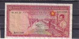 Belgian Congo Kongo  50 Fr 1957 Ruanda- Urundi XF - Unclassified