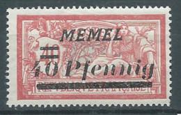 Memel YT N°53 Merson Surchargé Neuf/charnière * - Nuovi