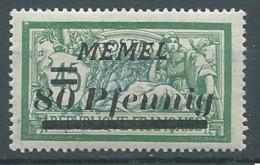Memel YT N°56 Merson Surchargé Neuf/charnière * - Nuovi