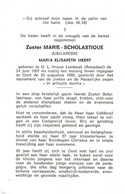 Zuster, Soeur: O.L.-Vrouw-Lombeek, Roosdaal, Gent, 1989, Maria Meert - Andachtsbilder
