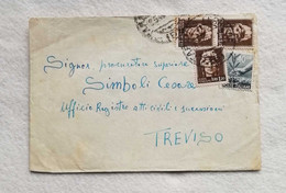 Busta Di Lettera Da Taranto Per Treviso 08/05/1946 - Poststempel