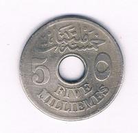 5 MILLIEMES  1917 EGYPTE /'8486/ - Egypte
