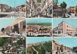 CITTANOVA-REGGIO CALABRIA-SALUTI DA..-9 VEDUTE-CARTOLINA VERA FOTOGRAFIA VIAGGIATA IL 31-7-1963 - Reggio Calabria