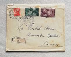 Busta Di Lettera Raccomandata Da Camerino Per Ravenna 1950 - 1946-60: Marcofilia
