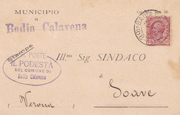 Badia Calavena Frazionario 68-7 Del 1927 - Marcophilia