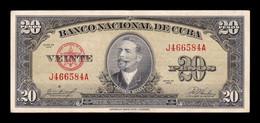 Cuba 20 Pesos Antonio Maceo 1958 Pick 80b MBC VF - Cuba