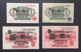 LOT 4 Banknoten Reichsbanknoten Darlehenkassenscheine 1914 Deutschland Germany Bankfrisch - Verzamelingen
